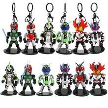 Figuras de acción de Kamen Rider, set de 6 unidades de 11 12cm en PVC, colgantes de llaveros, regalo para niños
