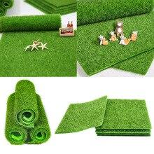 Sztuczny mech murawa trawniki zielone rośliny DIY dekoracja zewnętrzna mikro sztuczna trawa trawnik do domu Mini posadzka ogrodowa akcesoria