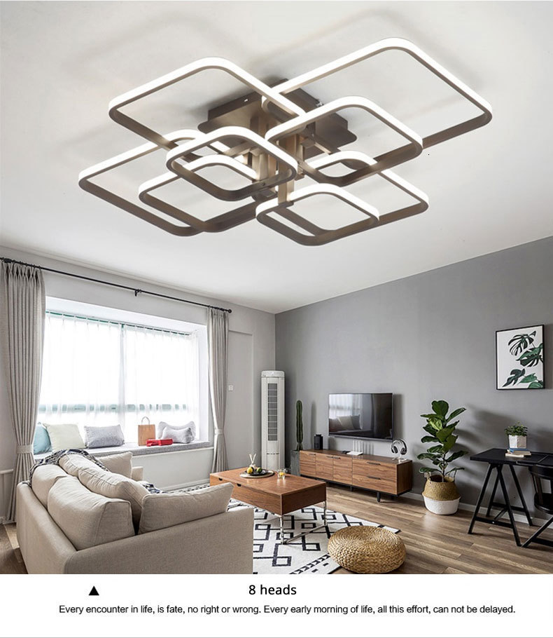 H750f9ba9ab2542ddbc8631ecd48a53985 Acylic Ceiling Lights Square Rings For Living Room Bedroom Home AC85-265V Modern Led Ceiling Lamp Fixtures lustre plafonnier
