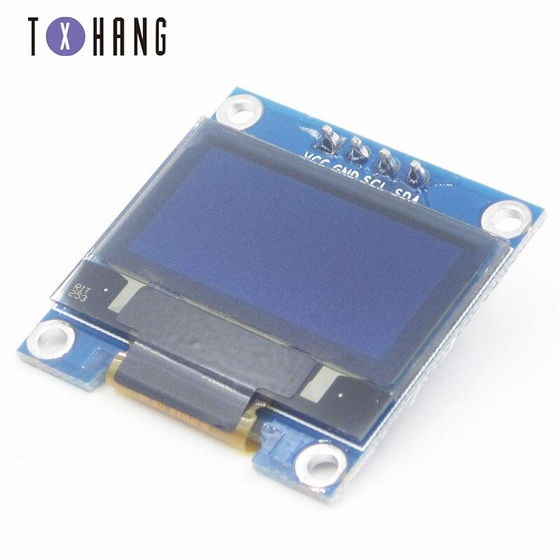 "2PCS 3-5V 0.96/"" SPI Serial 128X64 OLED LCD LED Display Module blue yellow NEW"