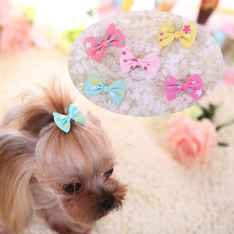 1/2/4pcs Dog Hair Clip Bowknot  Barrettes Hairgrip Headwear Pet Dogs Bows Girls Puppy Hairpins Hair Grooming for Pets Supplies