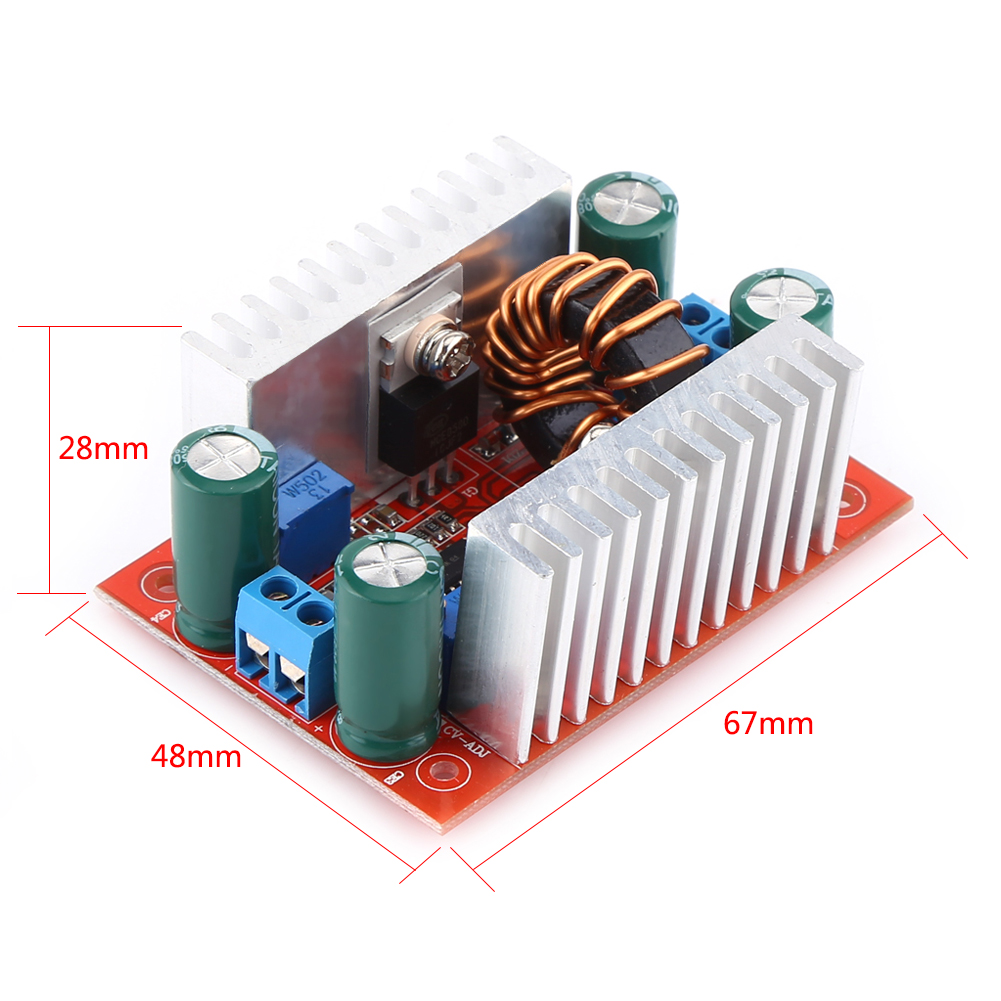 <font><b>DC</b></font> <font><b>400W</b></font> 15A Step-Up Boost Converter Constant Current Power Supply LED Driver 8.5-50V To 10-60V Voltage Charger Step Up Module image