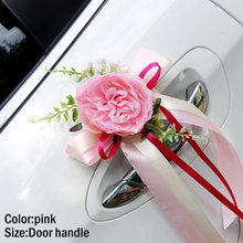 Wedding Decoration Artificial Flowers Dried Flowers for home decor Car Decoration Flower Door Handles Rearview Mirror Dec DC112(China)