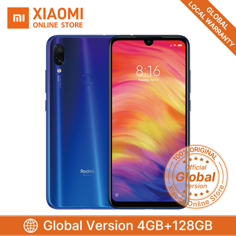 "Global Version Xiaomi Redmi Note 7 4GB 128GB Smartphone Snapdragon 660 Octa Core 4000mAh 6.3"" 2340*1080 48MP+5MP Mobile Phone"