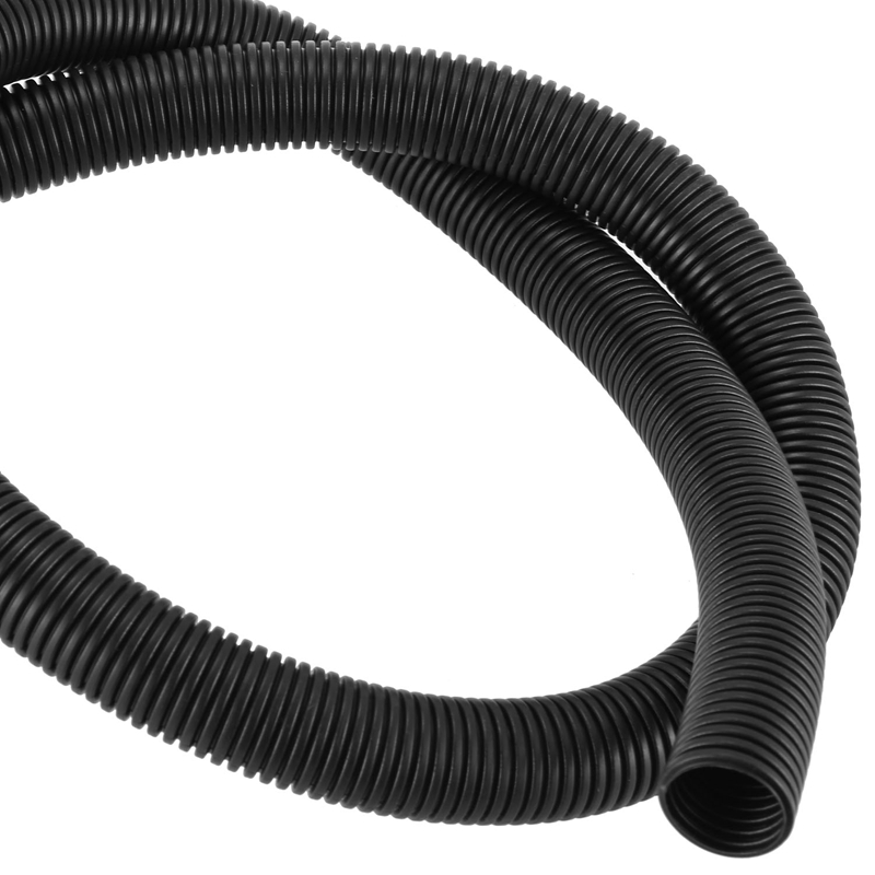 1//4 Split Wire Loom Tubing Black - 50FT Polyethylene