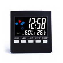 Multifunction Voice Control LCD Screen Thermometer Clock Humidity Monitor Electronic Digital Display Alarm Calendar