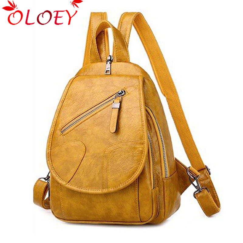 Ladies Travel Backpack Korean 2020 New Wild High Quality Multifunctional Casual Soft PU Large Capacity Student School Bag Hot