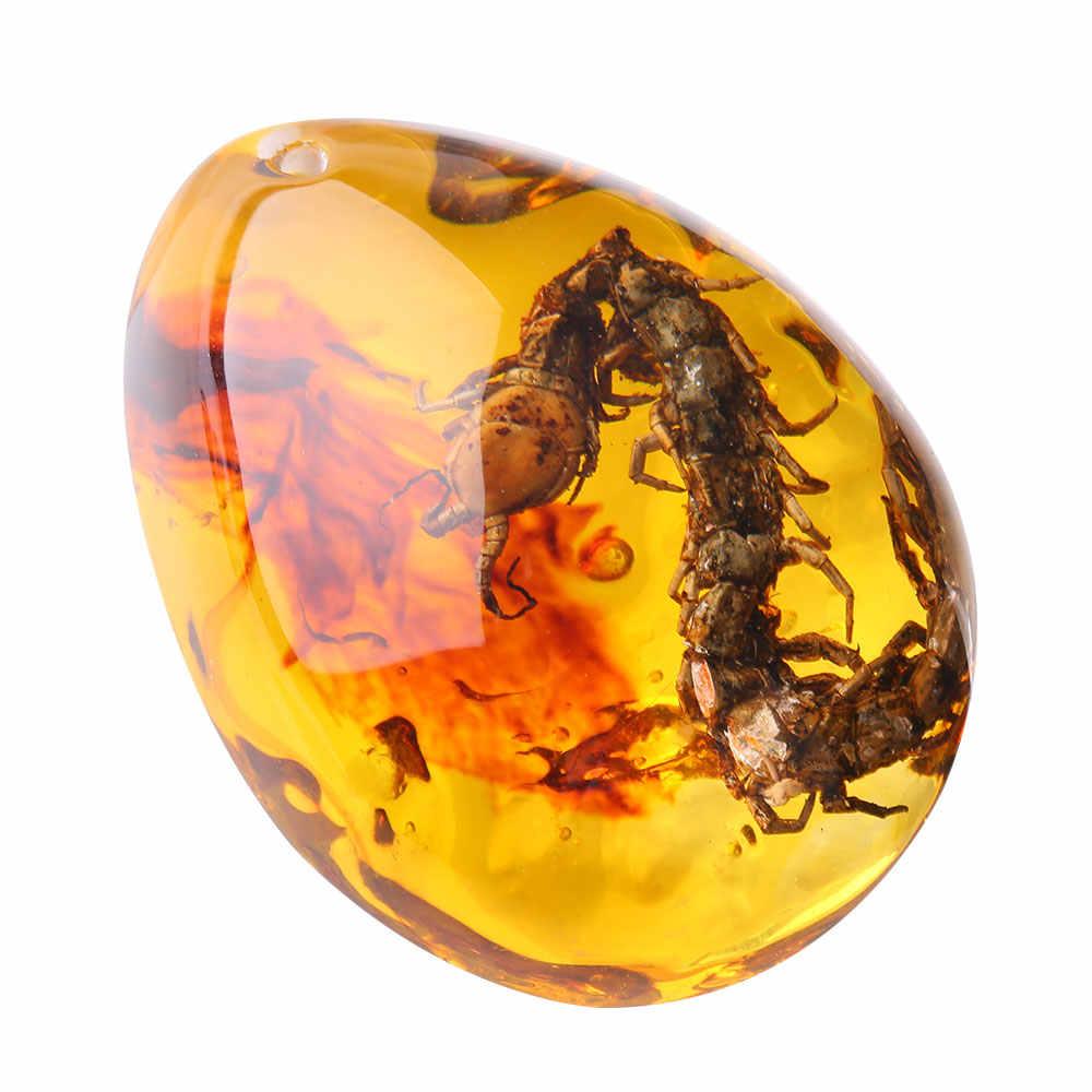 Orisinalitas Fashion Dekorasi 5.5*4*2 Cm Hadiah Ornamen Pakaian Serangga Amber Liontin Yang Indah 5 Warna Perhiasan Batu Permata