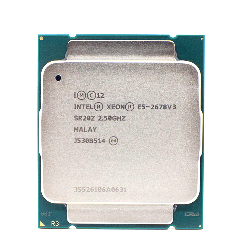 For Intel Xeon E5 2678 V3 CPU 2.5G Serve LGA 2011-3 2678V3 PC Desktop processor For X99 motherboard 1