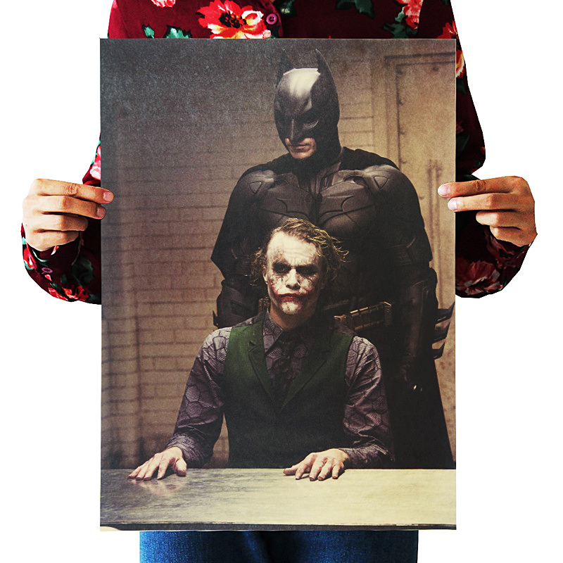 mling Classic Movie Dark Dawn Knight Vintage Poster Kraft Paper Bar Cafe Western Restaurant Wall Sticker Decorative Painting image