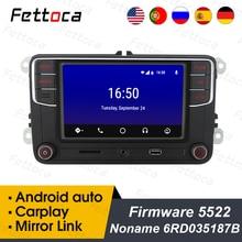 "RCD330 plus Android Auto CarPlay RCD330 6.5""MIB Noname Car Radio 187B For Golf 5 Jetta MK5 MK6 CC Tiguan Passat B6 B7 Polo"