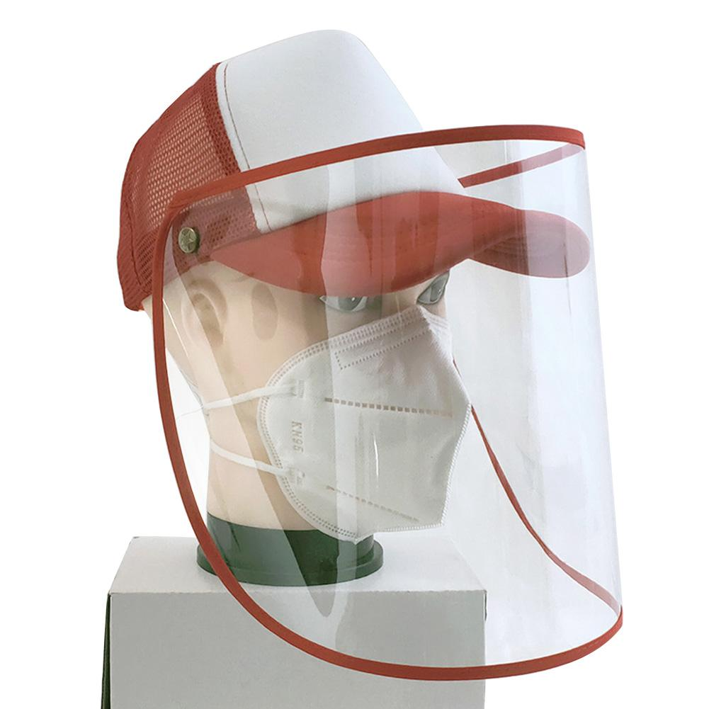 Kid Adult Removable Anti-Spitting Face Shield Cover Baseball Cap Protective Hat Removable Transparent Design Can Provide Youwide