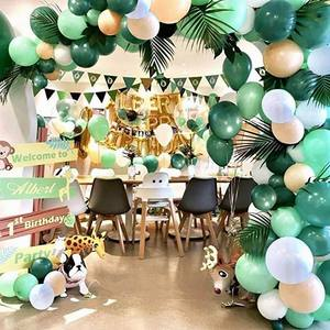 Image 5 - Jungle Safari Theme Party Supplies Green Balloons Garland Arch Kit Birthday Baby Shower Forest Party Christmas Decorations