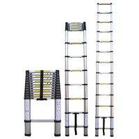 3.8m telescopic ladder aluminum alloy extension step multi purpose folding ladder qp2