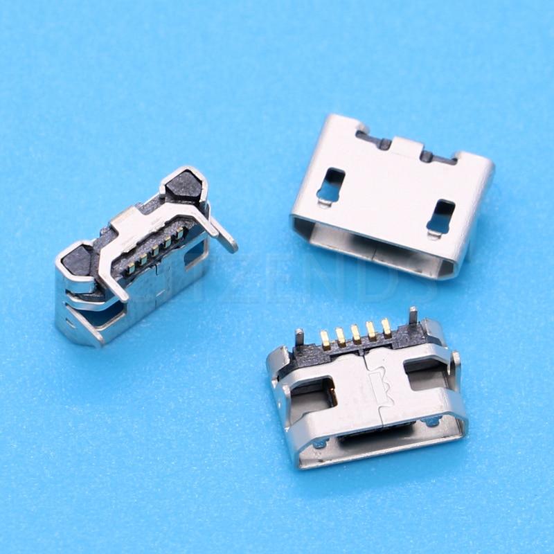 10 шт./лот Micro USB 5pin Jack розеточная часть соединителя с цифрами и рожками на капюшоне; Тип для хвоста зарядки мобильный телефон продажа в убыток ...