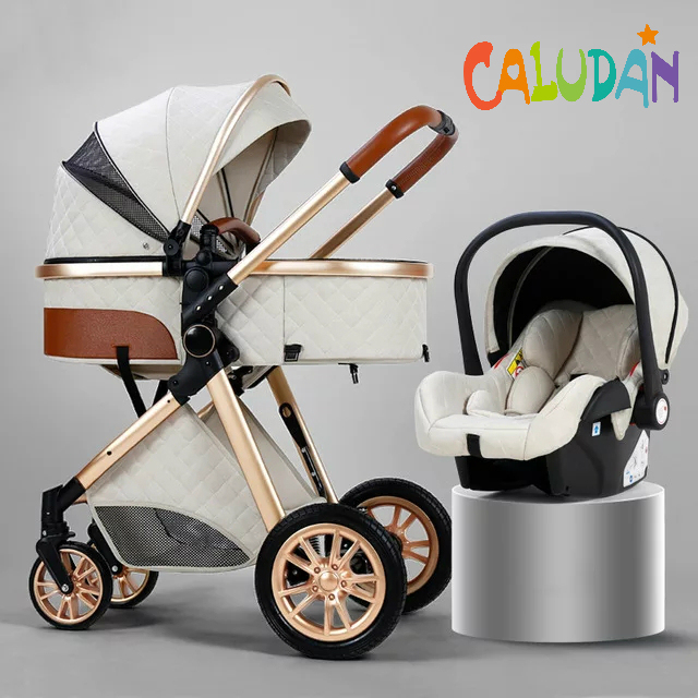 2021 novo carrinho de bebê 3 em 1 alta paisagem carrinho reclinável carrinho de bebê dobrável carrinho de bebê berço puchair recém-nascido 5