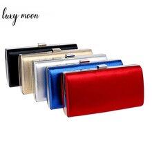Bolso de mano Luxy Moon dorado para mujer, bolso de boda para mujer, bolso de mano de diseño Vintage, bolso de hombro con cadena, billetera para fiestas y banquetes