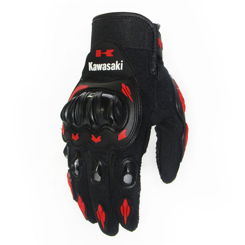 High Quality Kawasaki Motorcycle Gloves Outdoor Sports Protection Electric Bicycle Riding Off-road Racing Gloves  Luva Ciclismo
