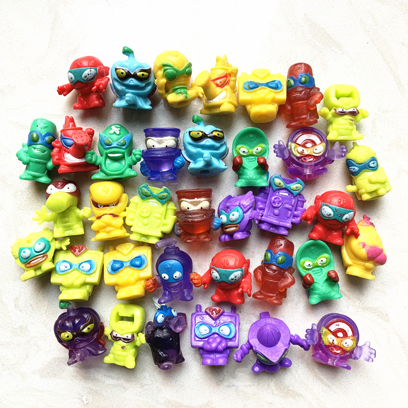 10pcs Different SuperZings Action Figure 3CM PVC Super Zings Collectio Model Toys Doll For Kids Christmas Gift