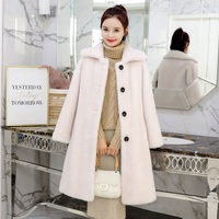 Autum/winter women outerwear jacket high imitation fur coats shearing fabric women overcoat maternity outerwear coats