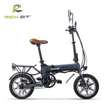 RichBit RT-619 14 Inch Folding Electric Bike 36V 250W 10.2Ah Lithium Battery Ebike Folding Electric European Quick Delivery