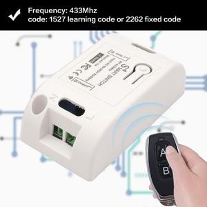 Image 3 - Diese Lamp Controller Universele Afstandsbediening Schakelaar Ac 220V 1CH 433Mhz Rf Relais Ontvanger En Zender Voor Verlichting schakelaar