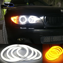 4x106mm Cotton light angel eyes halo ring kits dual color for BMW 3 Series E46 Facelifted Coupe 2 Door Coupe Convertible электромобили hebei bmw 2 series coupe