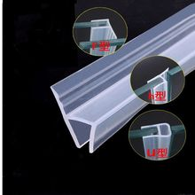 6-10mm Silicone Sealing Strips Frameless Glass Door Window Gap Seal Weatherstrip dust proof Screen Bathroom Hardware Accessories