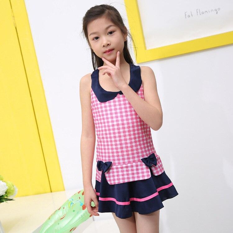 Korean-style Hot Springs Princess Dress-Bathing Suit KID'S Swimwear Girls Dress-Tour Bathing Suit