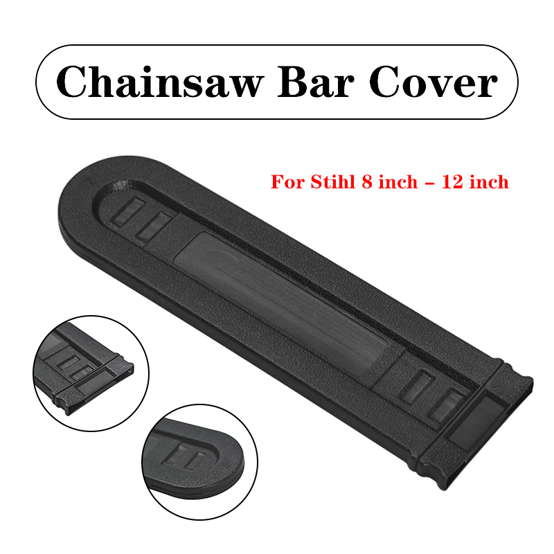 Chainsaw Bar Cover Scabbard Guard Universal Guide Plate For Stihl 8 Inch - 12 Inch Black