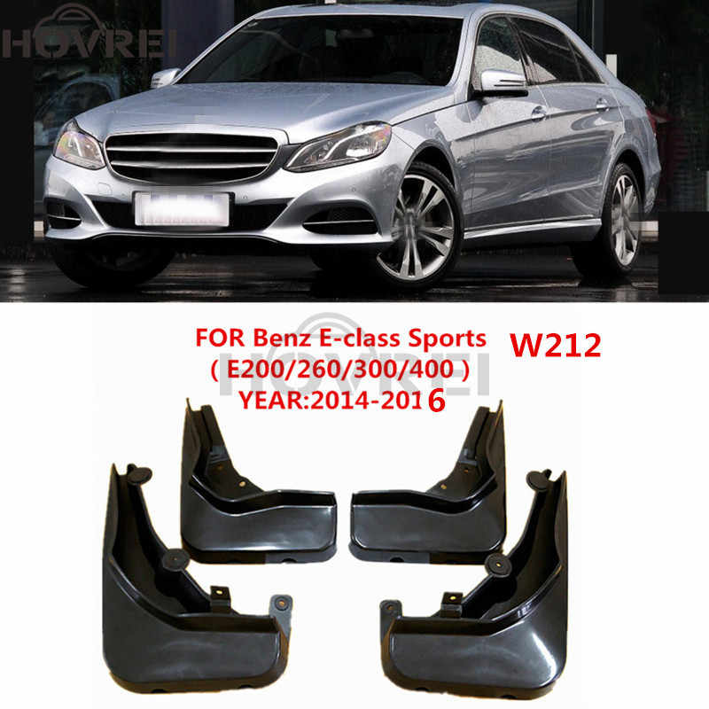 Set For Benz E Class W212 2014-2016 Mudflaps Mud Flaps Splash Guard Mudguards