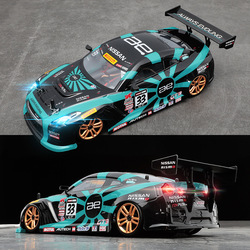 1/18 Four-wheel Drive Toy Car RC Professional Adult Drift Model Car High-speed Charging Children Remote Control GTR Racing Car