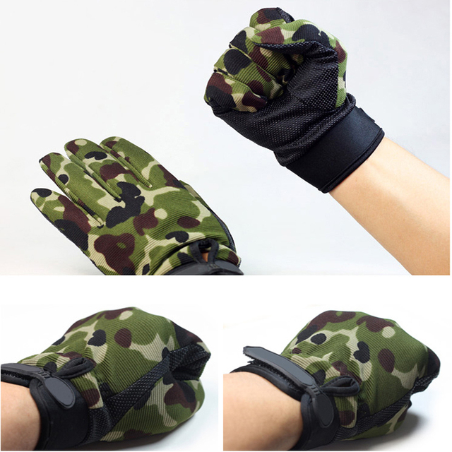 Summer Man Gloves Fishing Tactical Breathable Outdoor Riding Gloves Lady Bicycle Non-slip Gloves Full Finger and Fingless 4