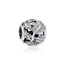 925 Sterling Silver Bead Fits Pandora Bracelet Openwork Leaves Silver Charm Beads for Women DIY Jewelry Kralen PERLES Wholesale цена