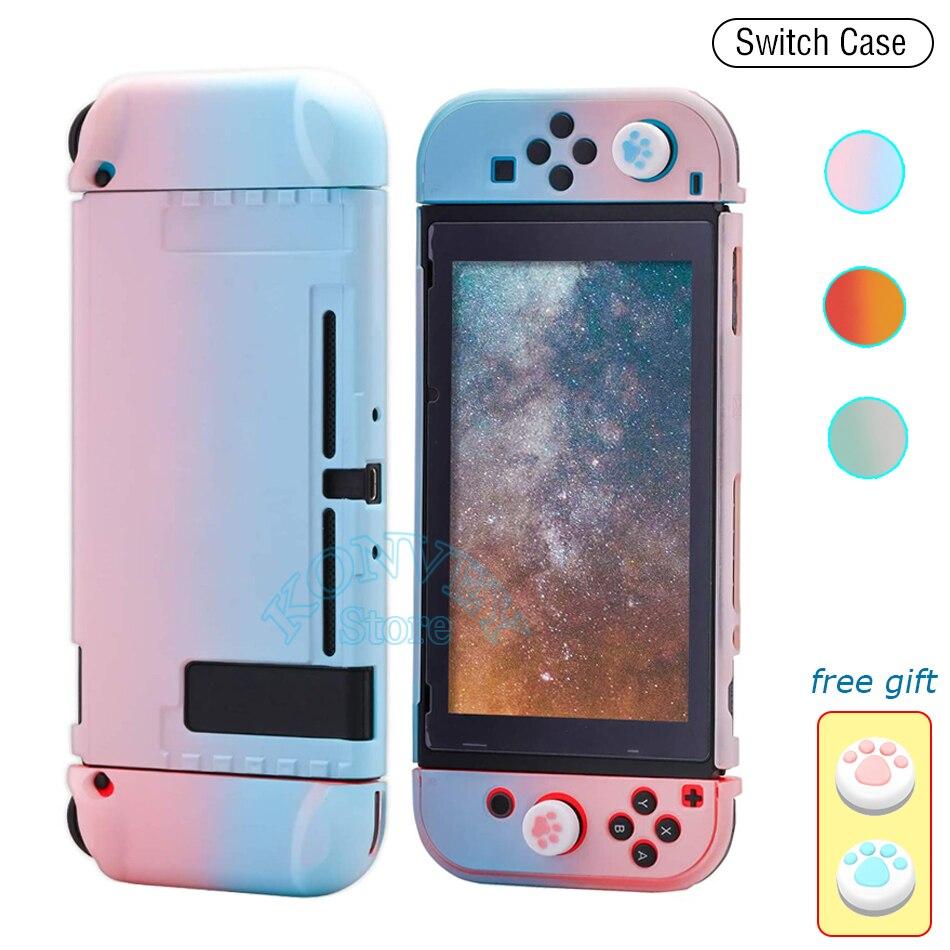 Защитный чехол для Nintendo Switch, розовый, ультратонкий, яркий, съемный, 2020