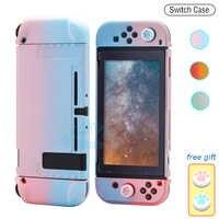 Funda protectora para Nintendo Switch, carcasa desmontable de color rosa, ultrafina, colorida, para consola Nintendo Switch, 2020