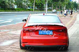 Image 5 - A3 S3 8V Carbon Fiber Rear Trunk Lip Spoiler Wing For Audi A3 S3 8V Sedan 2014 2015 V Style