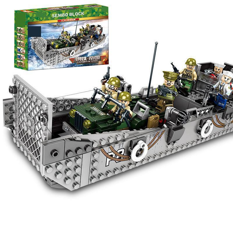 <font><b>101362</b></font> of steel Militar Series Building Blocks Brick mortar helicopter education model baby toys image