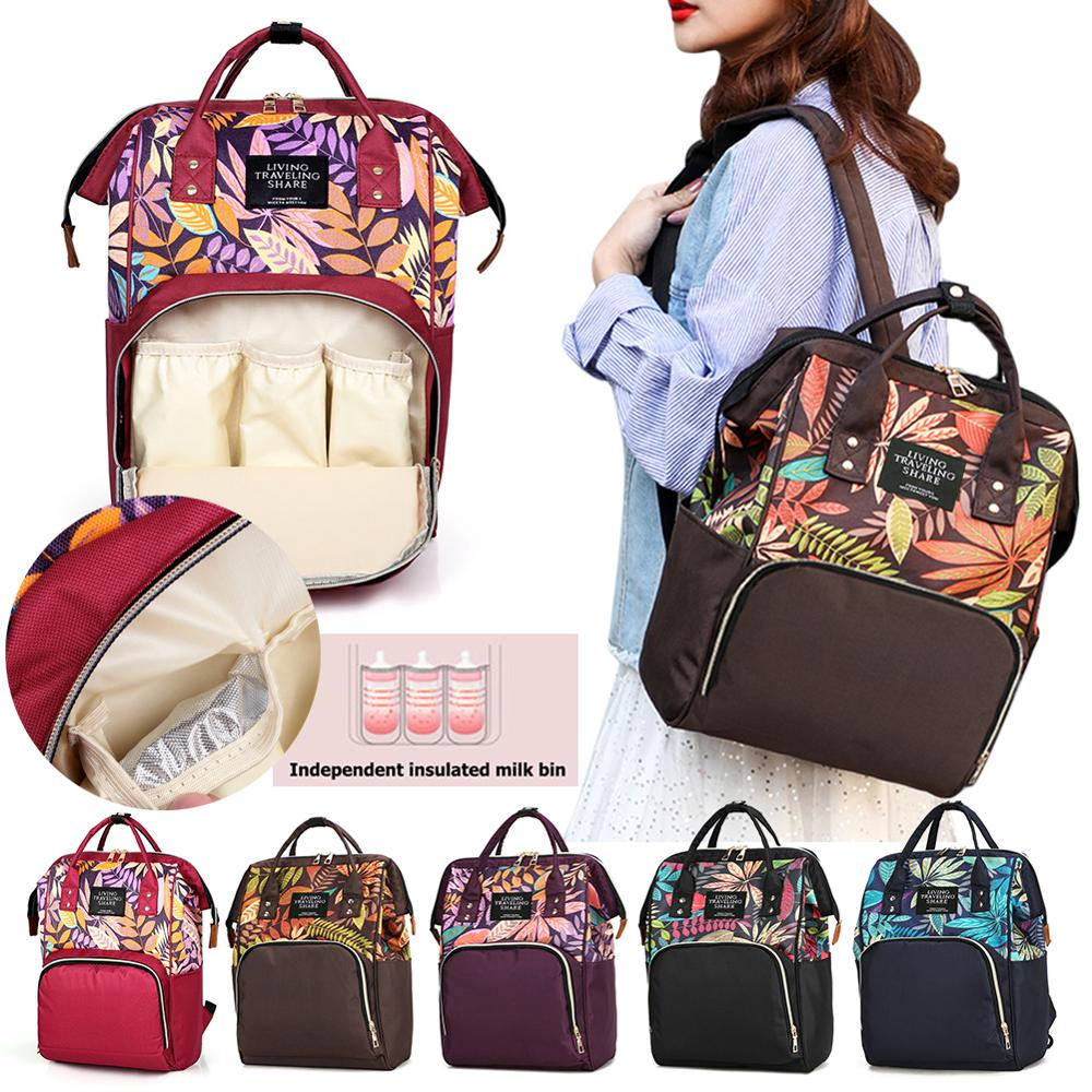 Large Capacity Mummy Diaper Bags Zipper Pregnant Women Baby Nappy Nursing Diaper Bags Mother Travel Backpacks Maternity Handbags