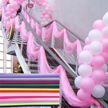 10m 48cm Bride Party Decor Wedding Organza Tulle Fabric Sheer Swag Backdrop Curtain Rustic Wedding Decoration Party Event