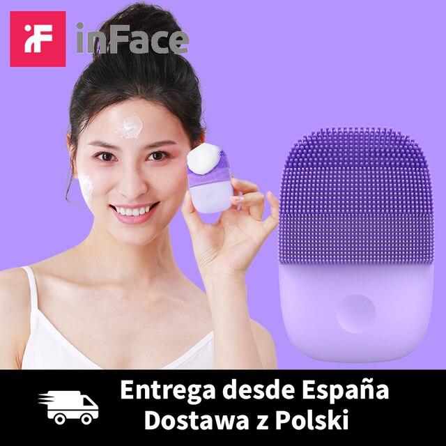 Inface פנים ניקוי מברשת משודרג גרסה חשמלית עמוק נקי קולי פנים מברשת 5 מתכוונן מצבי IPX7 עמיד למים
