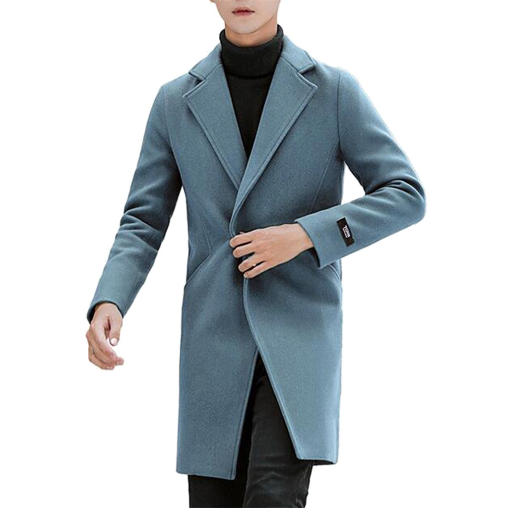 Wool Blend Men's Coat Woollen Overcoat Autumn Winter Men Coat Fashion Brand Clothing Lined Warm Over Coat Male Plus Size 5XL