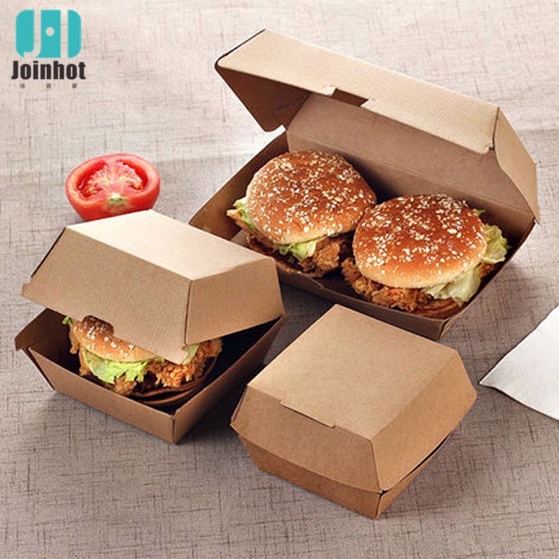 5pcs Hamburger Grade Grease Paper Fast Food Wrappers Disposable Fried Chicken Beefsteak Take-out Food Packing Box