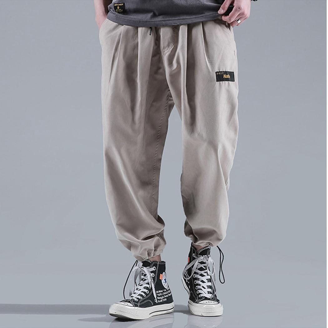 Male Trousers Harem-Pants Loose Joggers Elastic-Waist Pantalen Men Streetwear Casual
