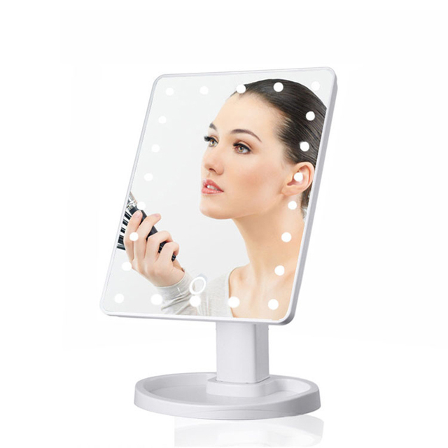 Illuminated Mirror LED Light 16/22 Lamp Makeup Mirror Light Touch Dimme Desktop Mirror LED Cosmetic Vanity 10X Magnifying Mirror 6