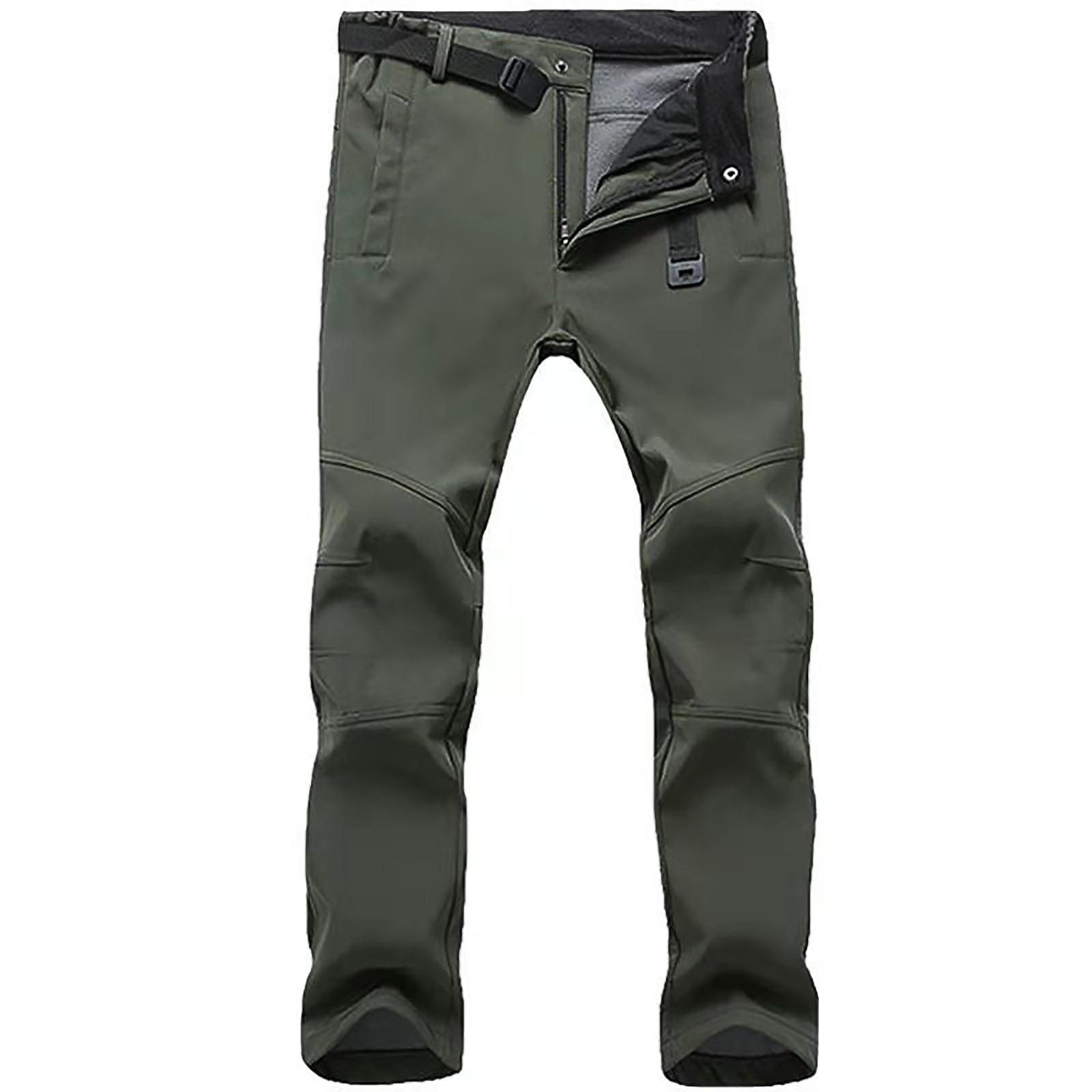 Men Outdoor softshell tactical pant Male winter waterproof Army Combat Military Camp Fish Ski Trek Hike Climb Sport Warm Trouser