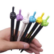 36 pcs mixed color 0.5mm cute cat with a raised tail student stationery writing smooth gel pen personality animal pen