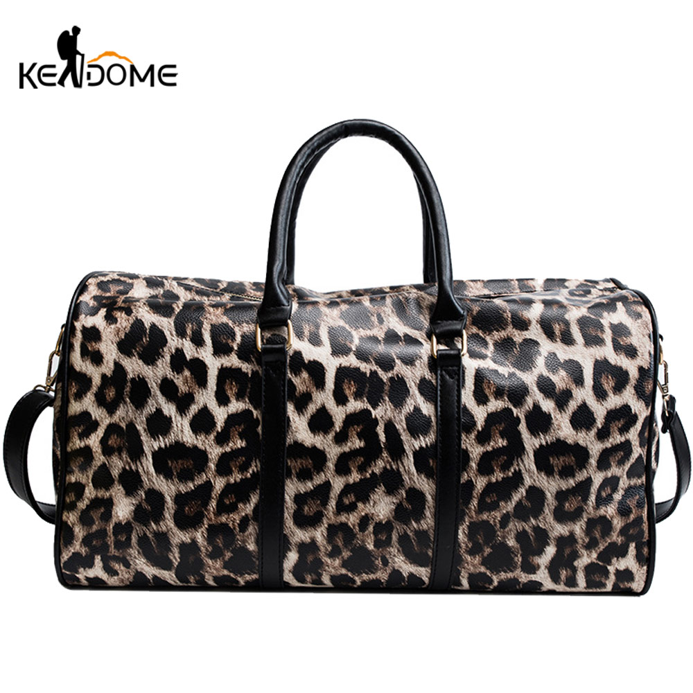 Leopard Gym Bags Training Fitness Training Woman Bags Shoulder Handbag Sport Crossbody Tote Ladies Gymtas Sac De Sport XA291D