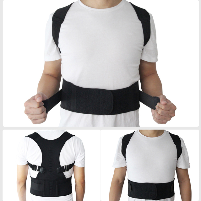 Adjustable Magnetic Posture Corrector Corset Back Brace Back Belt Lumbar Support Straight Corrector for Men Women S-XXL 1