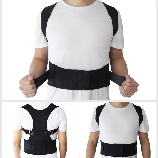 Male Female Adjustable Magnetic Posture Corrector Corset Back Brace Back Belt Lumbar Support Straight Corrector de